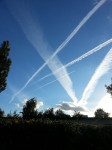 Airplanes making tracks