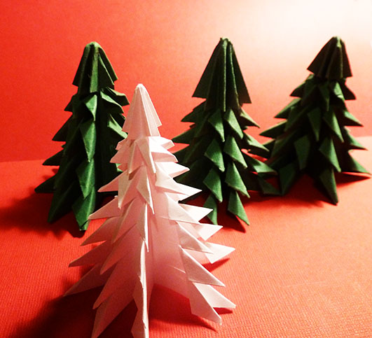 four-easy-origami-Christmas-trees