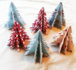 origami Christmas tree craft