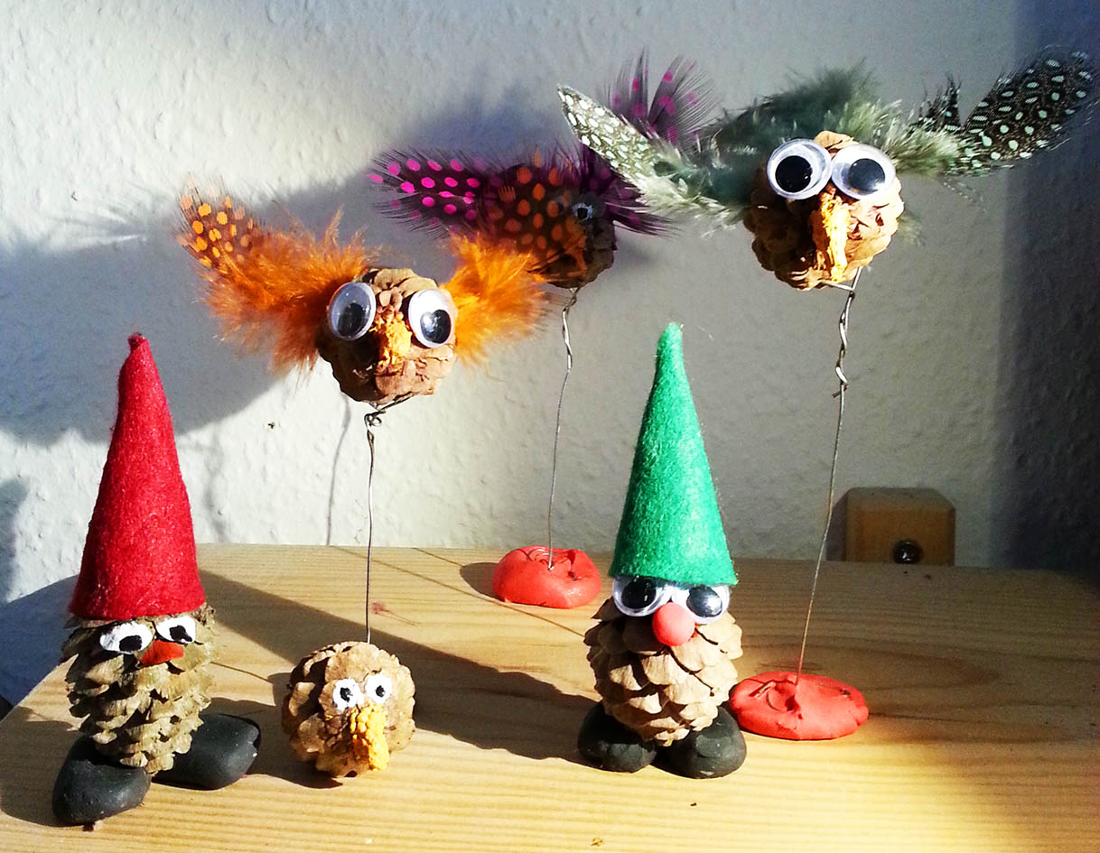 Pine cone animals