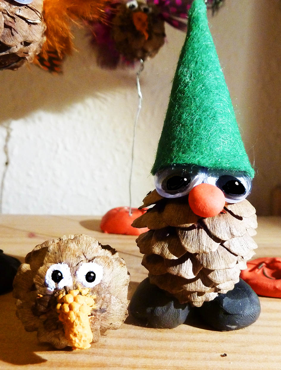 pine cone man and hedgehog