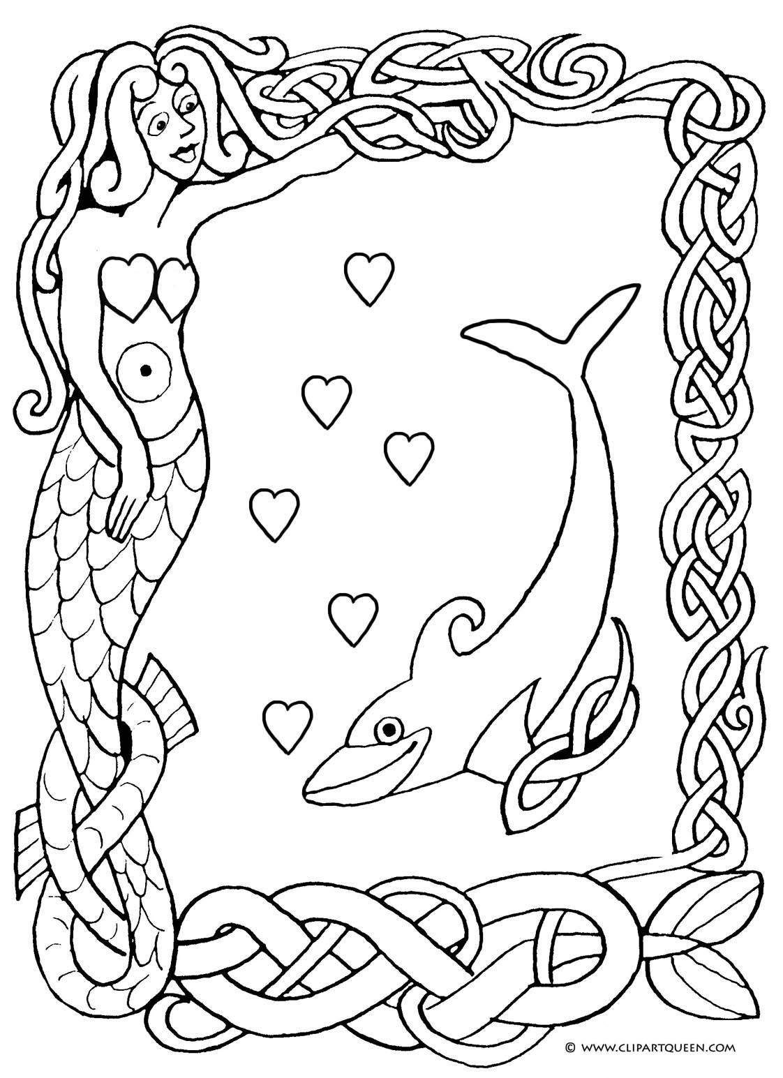 Valentine coloring page to print