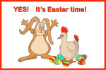 Easter bunny and hen