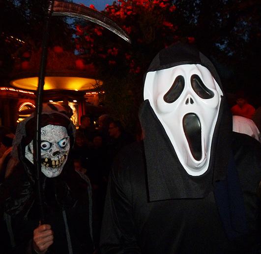 Halloween masks death scream
