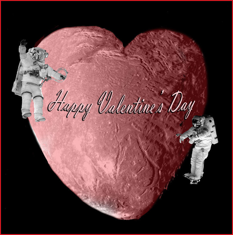 Valentine's day greeting from space