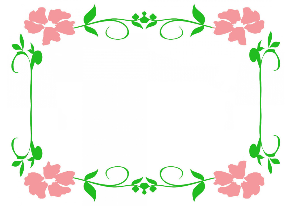 clipart border with pink flowers