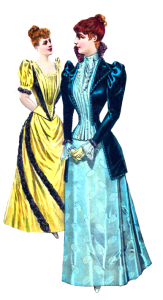 Victorian clipart with ladies