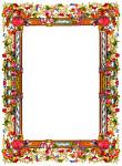 Victorian flower frame clipart
