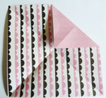 Easy origami rose folding