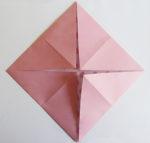 artificial rose folding