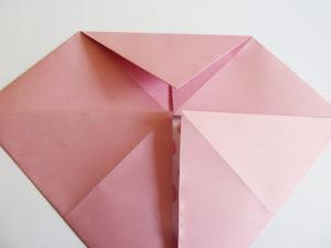 folding of origami rose