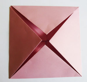 easy origami rose pink