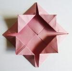 Easy origami rose