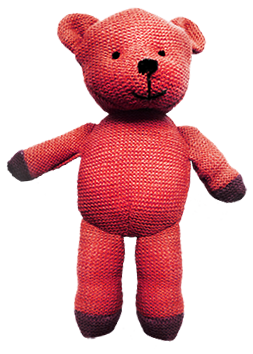 Old knitted teddy bear