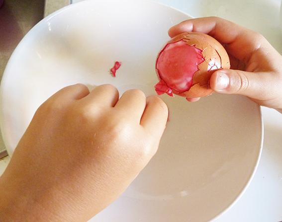 peeling the Easter egg