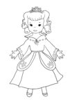 Cute princess sheet to color