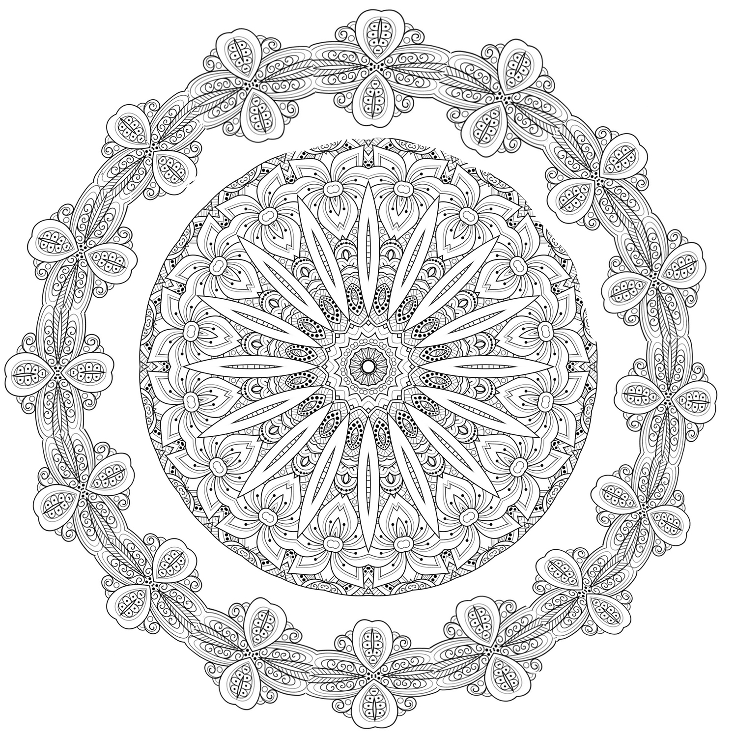 Mandala Christmas coloring