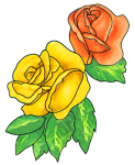free-flower-clipart-two-roses-leaves