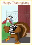 Turkey escaping from turkey-prison