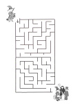 Halloween maze with witch
