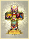 Easter card with religious motive