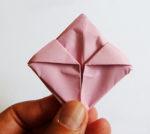 origami folding of rose