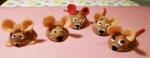 Christmas craft walnut mice