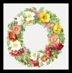round flower frame clipart